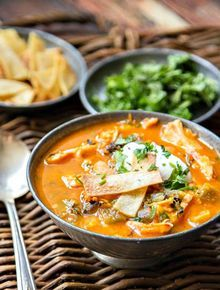 Chicken Tortilla Soup with Hatch Chiles – (Free Recipe below)