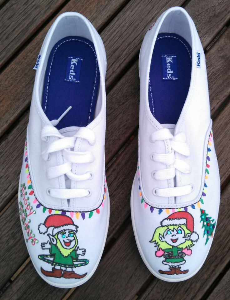 Hand-painted sneakers to brighten the holiday.