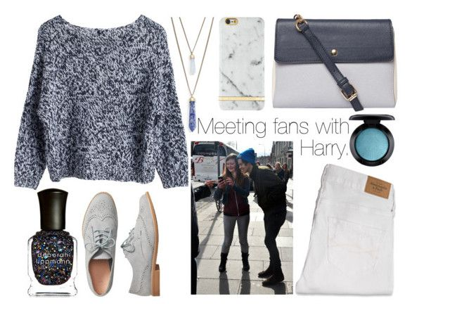 """Meeting fans with Harry."" by sunfayn on Polyvore featuring moda, Deborah Lippmann, Panacea, Abercrombie & Fitch, MTWTFSS Weekday, MAC Cosmetics, Dorothy Perkins, Gap e Richmond & Finch"