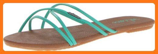 Volcom Women's Awesome Slide Sandal,Aqua,5 M US