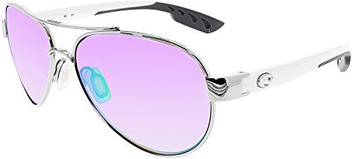 Costa Del Mar Loreto Sunglasses, Palladium, Green Mirror 580P Lens