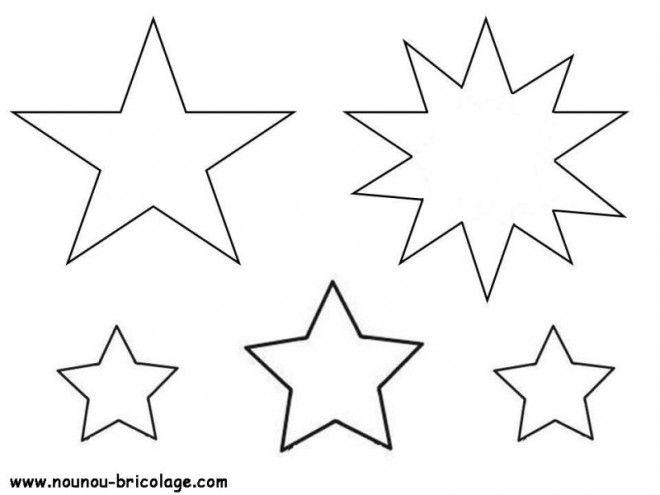 """Résultat de recherche d'images pour """"étoile 5 branches à imprimer"""""""