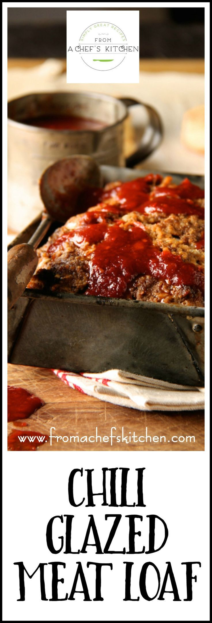 Chili Glazed Meat Loaf is simple, old-fashioned comfort food! Bottled chili sauce makes an easy glaze for this American classic!