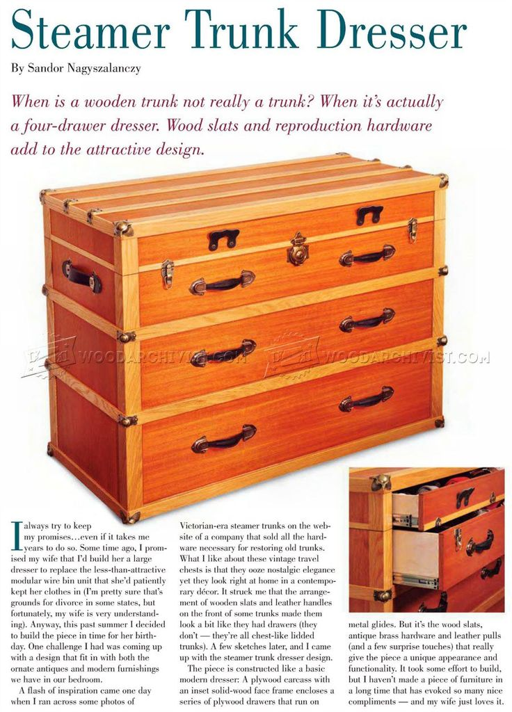 #6 Steamer Trunk Dresser Plans - Furniture Plans