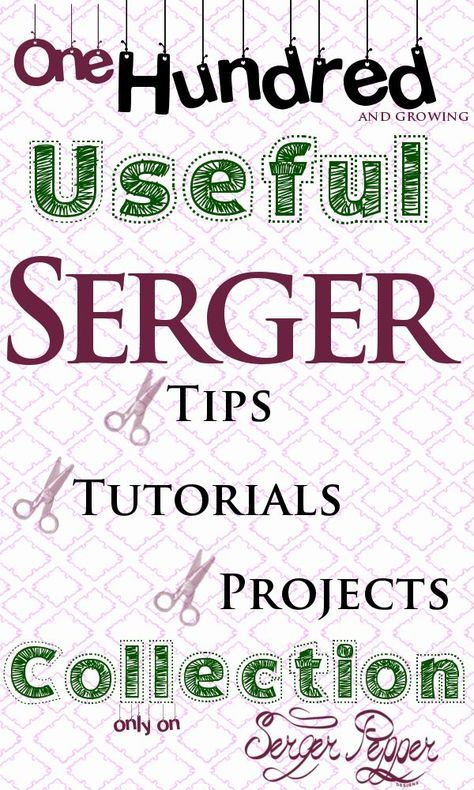 Let me introduce you to the biggest collections of serger // overlockers resources from all around the web. I often find myself google-ing for new serger techniques, cute serger projects and the best time-saving serger tips, so I thought I could save you some time, collecting here my favorite serger resources: only the best of the