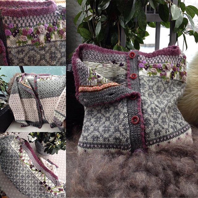 #wiolakofta #mørebåndveveri #strikking #knitting #kofter
