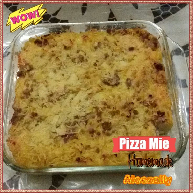 Pizza Mie Homemade