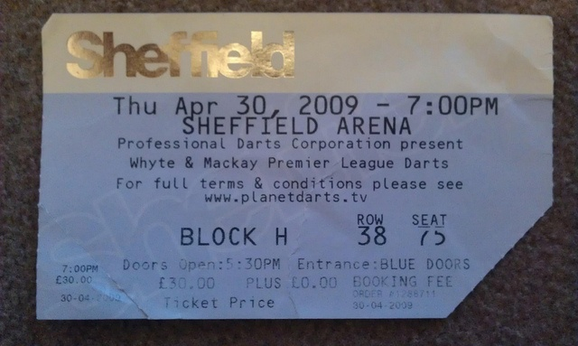 Premier League Darts Ticket...