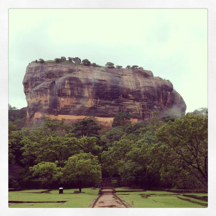The crazy beautiful Sigiriya Rock Fortress.