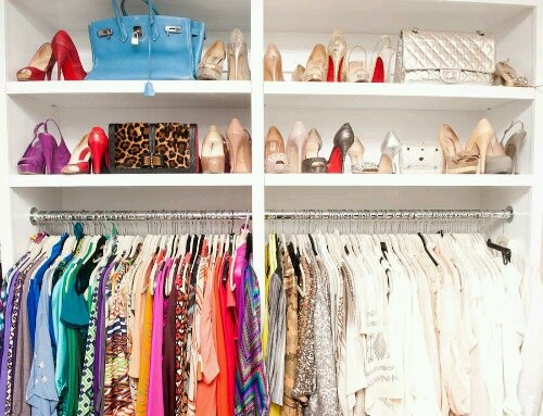 Kyle Richards color coordinated closet