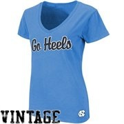 North Carolina Tar Heels (UNC) Ladies Cheer V-Neck T-Shirt - Carolina Blue