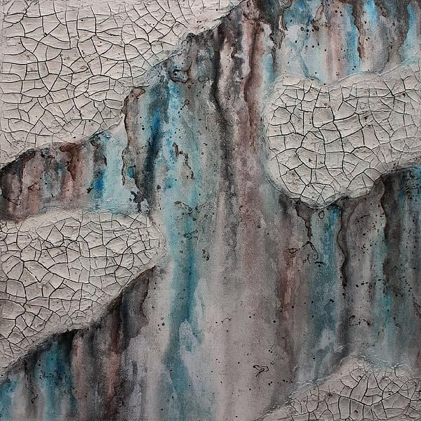 Hidden truth - Painting by Sylvia Sotuyo. Fine art prints and posters available! #painting #crackles #rustic #relief #ancient #wallart #artprint #decor #gifts