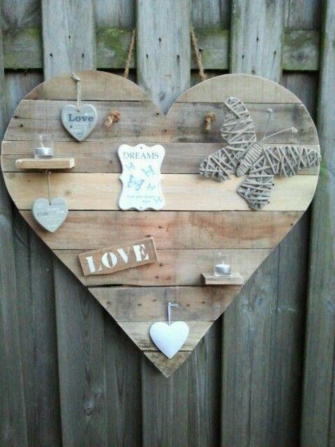 Houten hart van pallethout / sloophout.