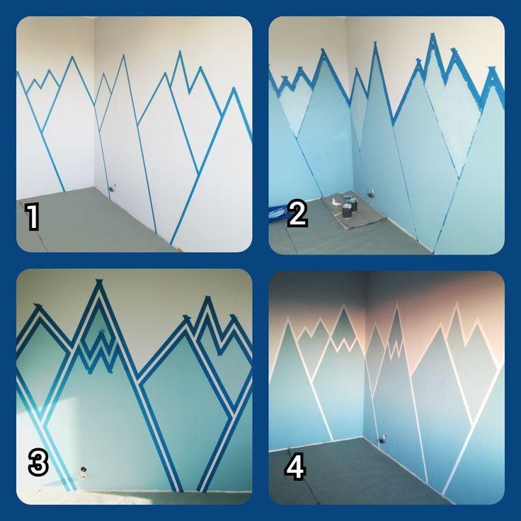 Wandmalerei #Berg #Wandmalerei #JAHR #Kinder #Zimmer #Kinderzimmer #Berge #Kinderzimmer