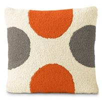 Orange and gray pillow for the couch