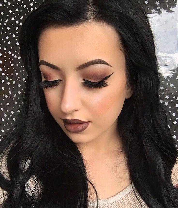 """(@elysian.artistry) on Instagram: """" Details on last post  #makeupartist #makeupart #longhair #hairgoals #bellami #bellamihair #makeup #cateye #wingedeyeliner"""
