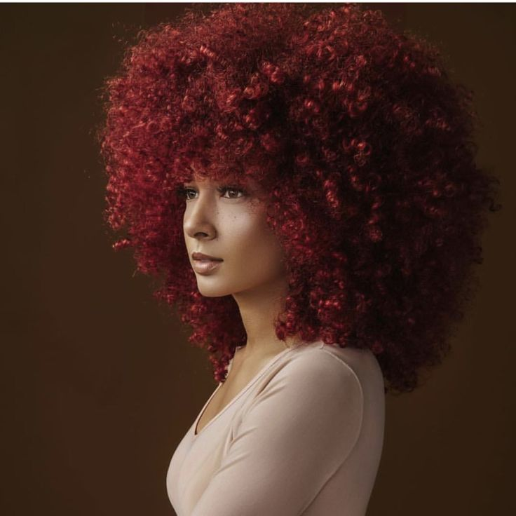 Red Natural Hair Afro