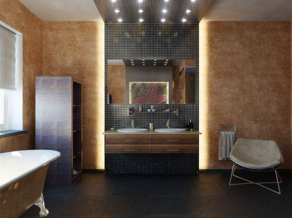 recessed lights in bathroom