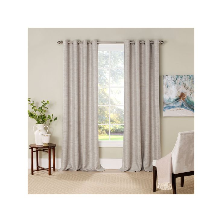 eclipse Newport Thermalayer Room Darkening Curtain, White Oth, 16293052063IVY