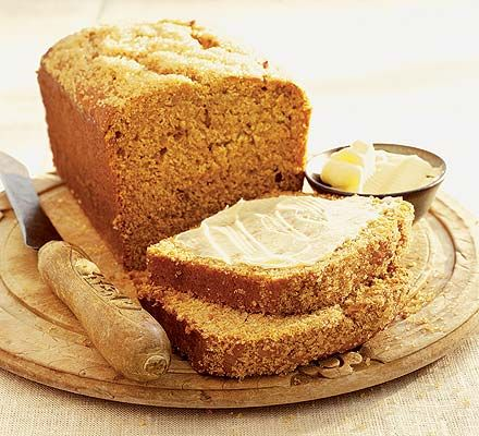 A moist cake bread to serve thickly sliced and buttered- it's good for lunchboxes and with a cup of tea
