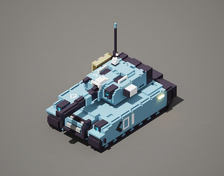 #voxel tank I did for fun