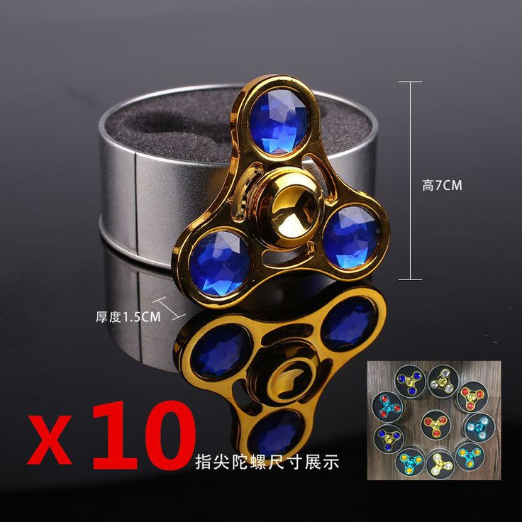 You are ting a Gold Russia CKF Fid Spinner Diamond Cut Metal