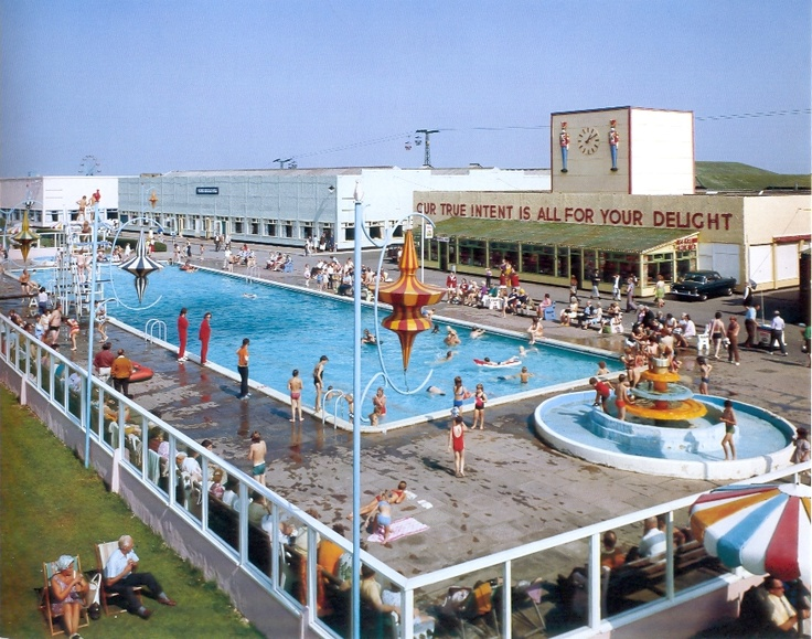 John Hinde Butlin 39 S Skegness Outdoor Heated Pool C Late 60s Early 70s Edmund Nagele John