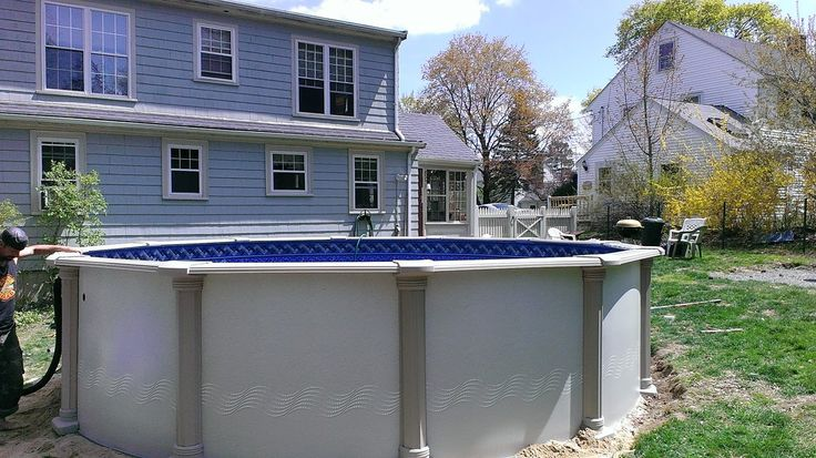 Serenity Above Ground Pool Being Installed In Norwood Ma