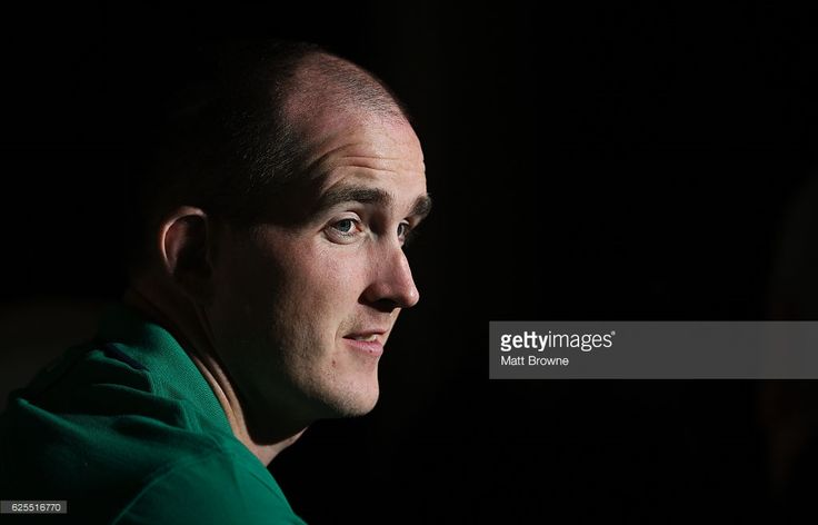 Kildare , Ireland - 24 November 2016; Devin Toner of Ireland during the Squad Press Conference at Carton House in Maynooth, Co. Kildare.