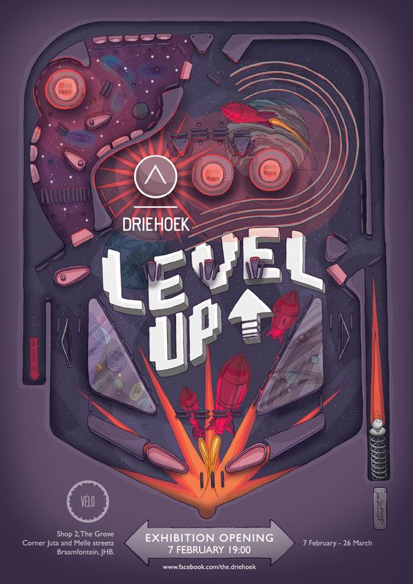 LEVEL UP exhibition poster by DRIEHOEK