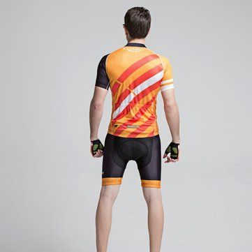 Mens Cycling Short Sleeve Suits Bicycle Shorts Sports Jersey Quick Dry Breathable Wicking Summer Sale - Banggood.com