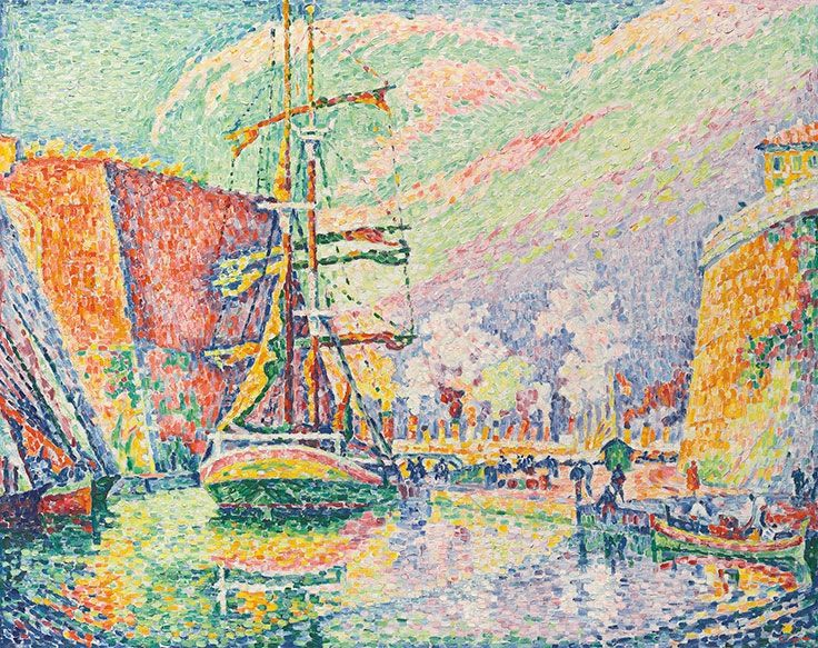 Paul Signac (1863-1935), Marseille, le port, 1934
