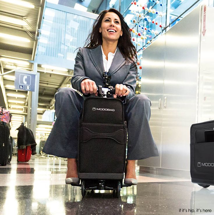 GENIUS!   The Modobag Motorized Ride-On Luggage is the first of its kind and an absolutely genius invention for anyone who's ever traveled through an airport. Videos, features and details at http://www.ifitshipitshere.com/modobag-motorized-ride-on-luggage/