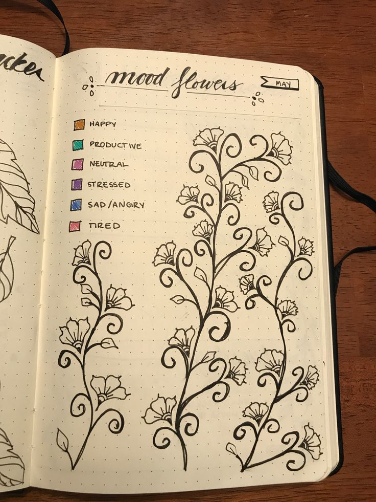 my mood tracker for may in my bullet journal!