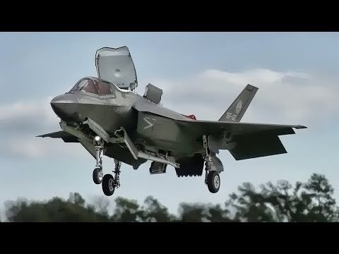 The F-35 Patuxent River Integrated Test Force team tests the U.S. Marine Corps F-35B STOVL capabilities with sloped surface vertical landing at Marine Corps Auxiliary Landing Field Bogue, N.C. The testing goal is to expand the F-35B envelope for vertical landings with relaxed sloped surface...