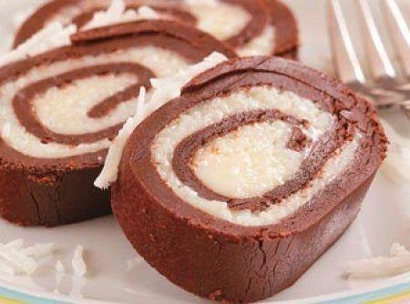 Receita de Docinho Prestígio - 200 gr de leite em pó, 200 gr de chocolate em pó, 2 lata(s) de leite condensado, 100 gr de coco ralado(s)