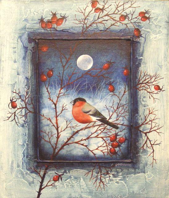 The bird in the winter