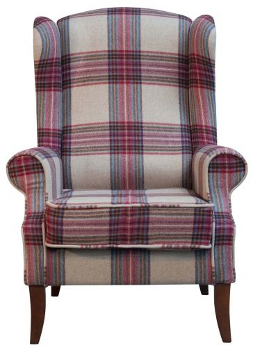 The KNIGHTSBRIDGE grand occasional #chair - finished in our #country collection of #tartan #fabrics