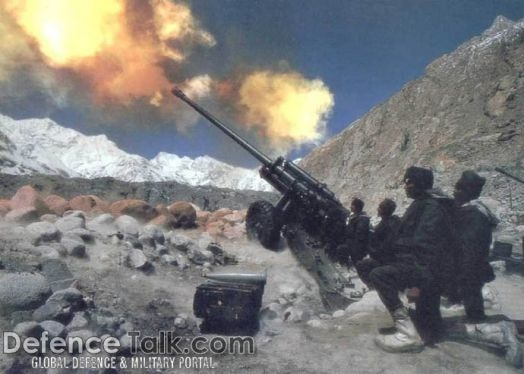 The Kargil War fought between India and Pakistan....1999  (photo of Indian soldiers at Siachen)