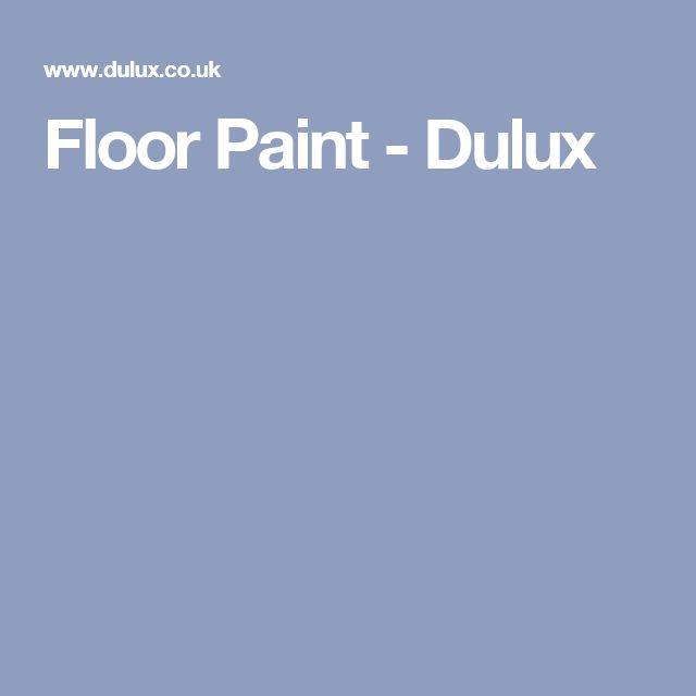 Floor Paint - Dulux