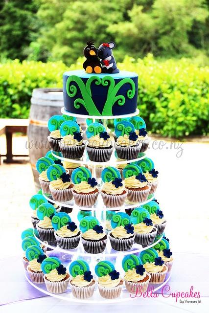 Kiwi and Koala in love cake