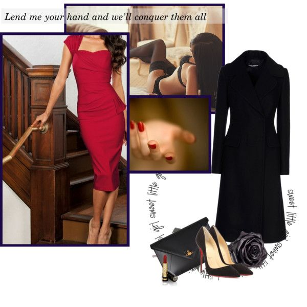 A fashion look from November 2014 featuring long sleeve coat, black velvet pumps e envelope clutch bags. Browse and shop related looks.