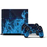 Amazon.com: Skins for PS4 Playstation 4 Games Decals Stickers for Sony PS4 Games PS4 Controller Skin for PS4 Accessories Sticker for PS4 Console and Two Dualshock 4 Remote Play Vinyl Decal Blue Fire: Video Games