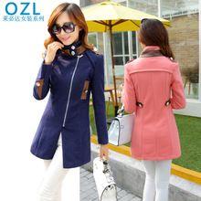 Áo khoác dạ nữ dài tay, kiểu dáng thanh lịch trẻ trung, mẫu mới