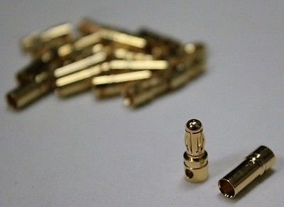 Switches Connectors and Wires 182178: 10Pairs 3.5Mm Gold Banana Connectors For Esc Motor Rc Plane, Heli, Boat - Usa -> BUY IT NOW ONLY: $96.89 on eBay!