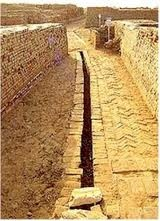Mohenjo Daro had a great sewer system and water drainage, shown here is one of the city drains