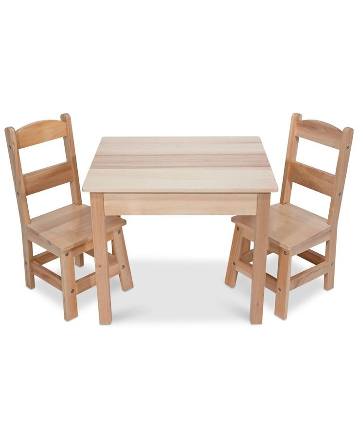 Outdoor Wooden Table And Chairs Part - 42: Melissa And Doug Wooden Table U0026 Chairs Set