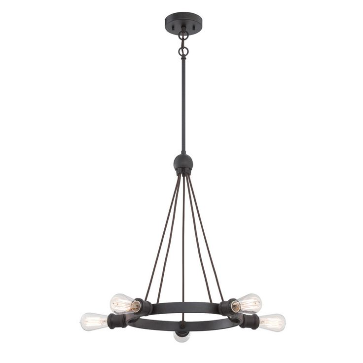 Nuvo Lighting Aged Bronze Paxton 5 Light Chandelier 27 75 Inches Wide
