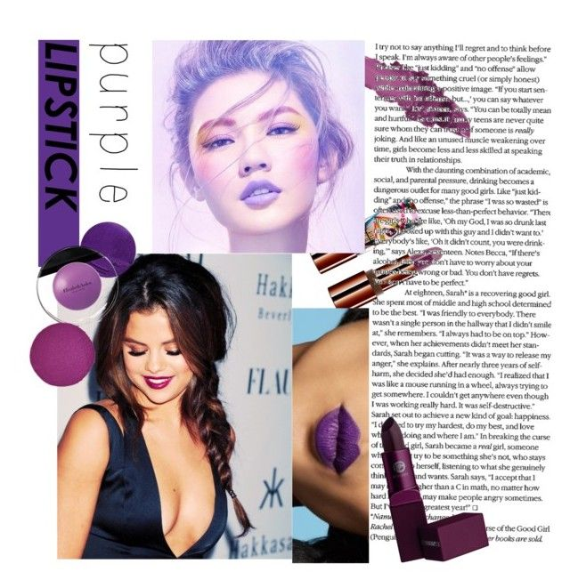 """Feeling purple 💜💜 #purplelipstickcontest #polyvore #polyvoreid"" by vikapranika on Polyvore featuring beauty, Teeez, Maybelline, Lipstick Queen, Elizabeth Arden and Christian Louboutin"