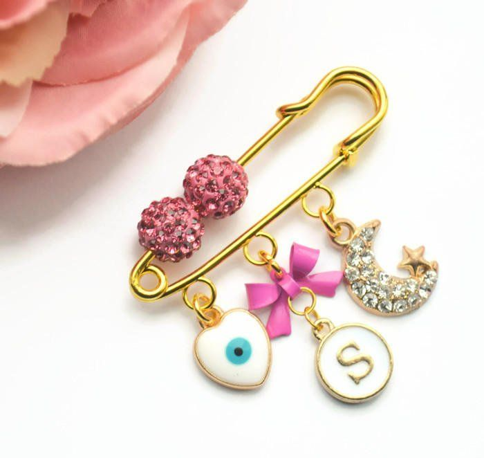 Beautiful  dummy clips pink and gold
